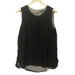 Vince Double Layer Silk Tank Top Size L